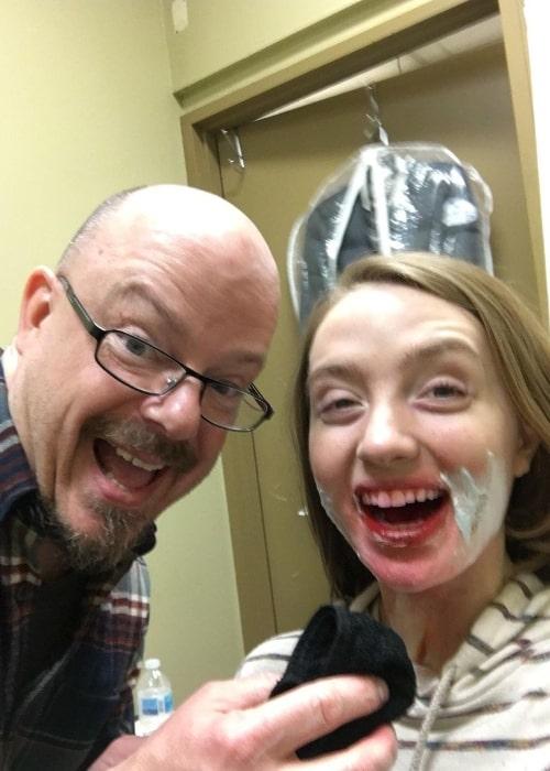 Kiera Allen in a selfie with Doug Morrow in April 2021