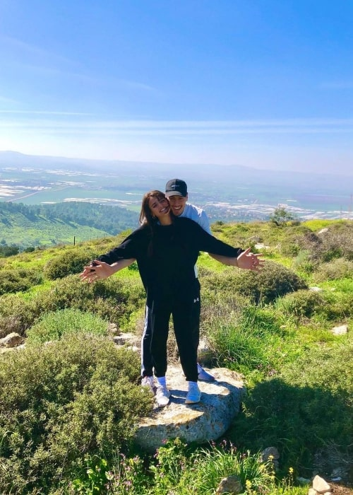 Kim Or Azulay as seen in a picture with her beau professional basketball player Yiftach Ziv in February 2021