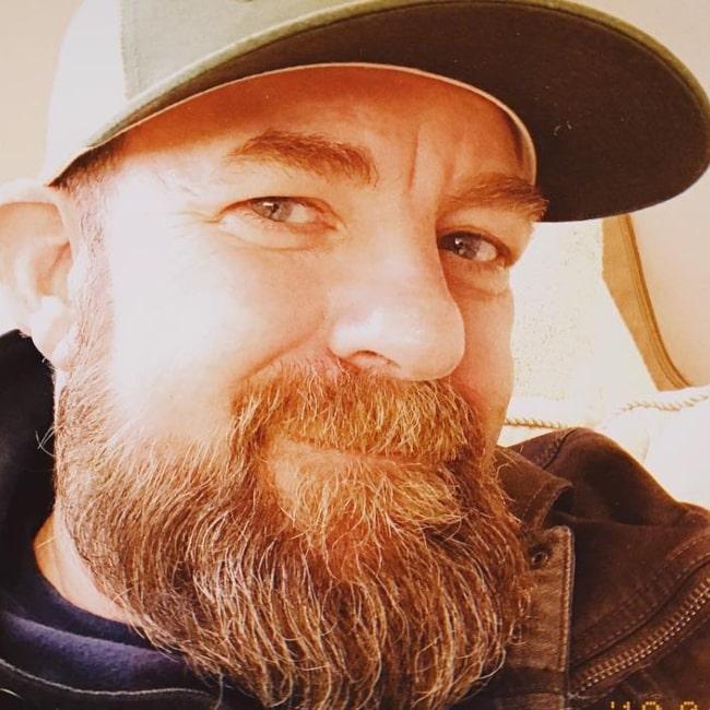 Kristian Bush as seen in a selfie that was taken in April 2019