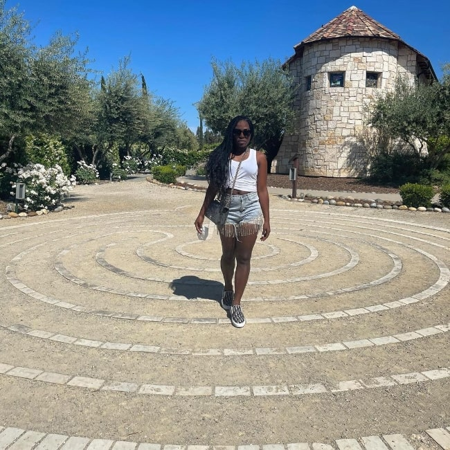 Laci Mosley posing for a picture in Paso Robles, California in May 2021