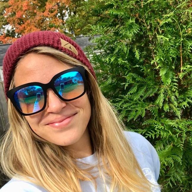 Lauren Akins as seen while taking a selfie in November 2017