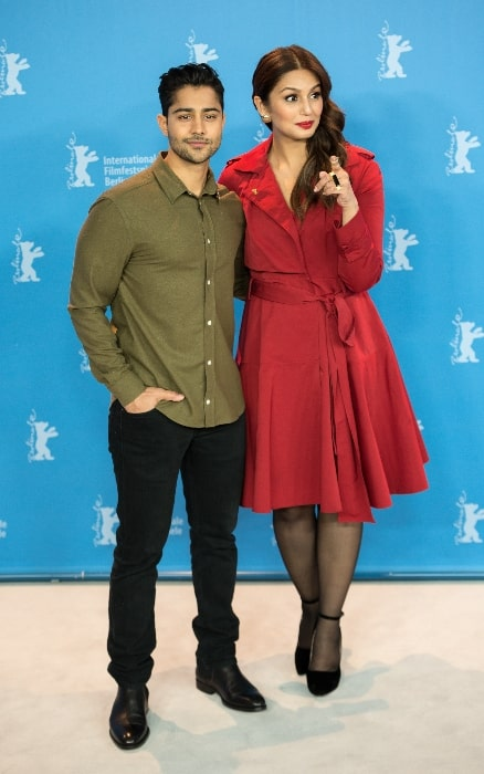 Manish Dayal and Huma Qureshi presenting the movie Viceroy's House at the Berlinale 2017