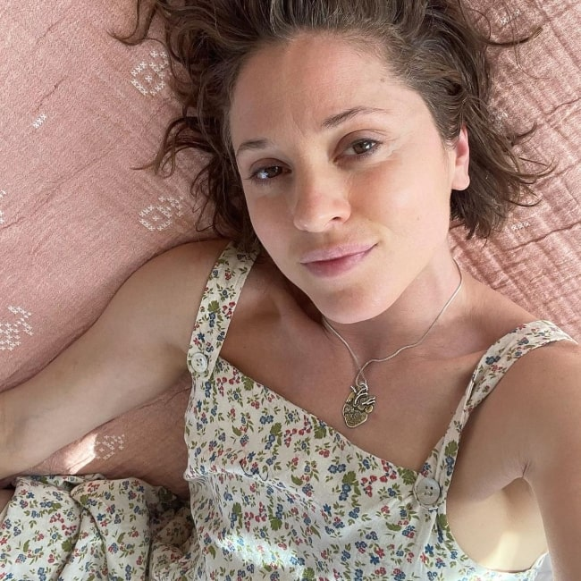 Margarita Levieva as seen while taking a selfie in Madrid, Spain in 2021