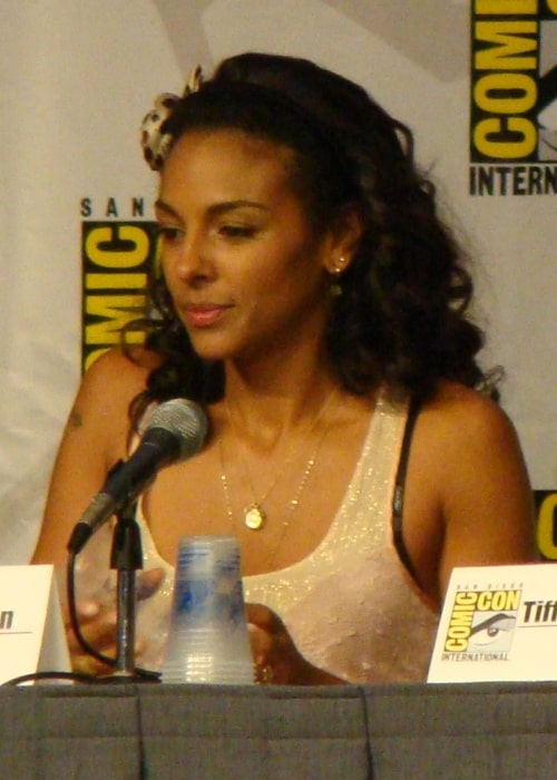 Marsha Thomason as seen in a picture that was taken White Collar panel at the 2012 Comic-Con International