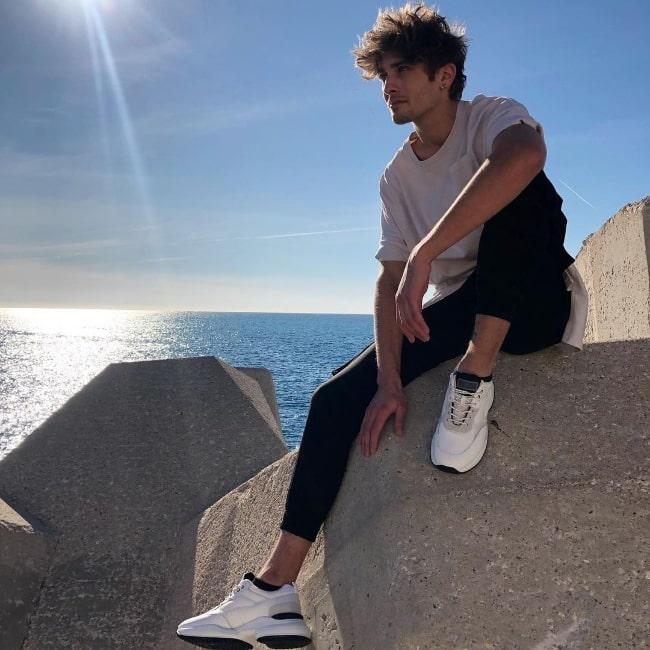 Maxence Danet-Fauvel as seen while posing for the camera in Nice, France in December 2020
