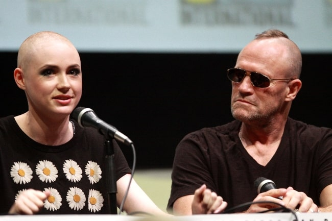 Michael Rooker and Karen Gillan at the 2013 San Diego Comic Con International, for 'Guardians of the Galaxy', at the San Diego Convention Center in San Diego, California
