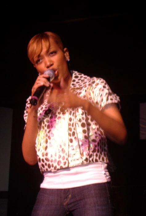 Monica Denise Arnold pictured while performing at the DC Black Pride in 2007