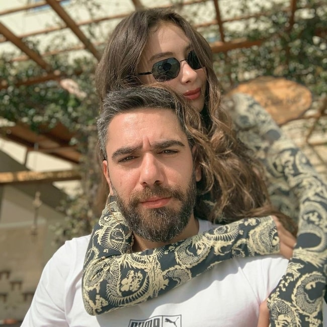 Neslihan Atagül and Kadir Doğulu in an Instagram post in February 2021