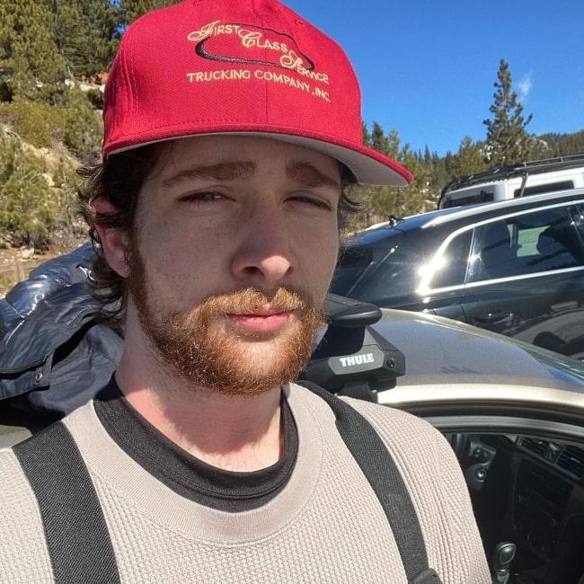 Noah Hugbox as seen in a selfie that was taken in February 2021