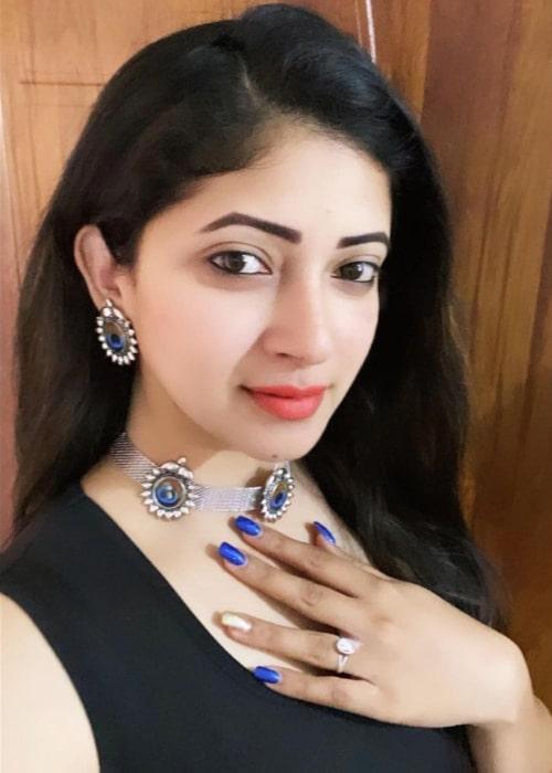 Pallavi Gowda as seen in a selfie that was taken in March 2021