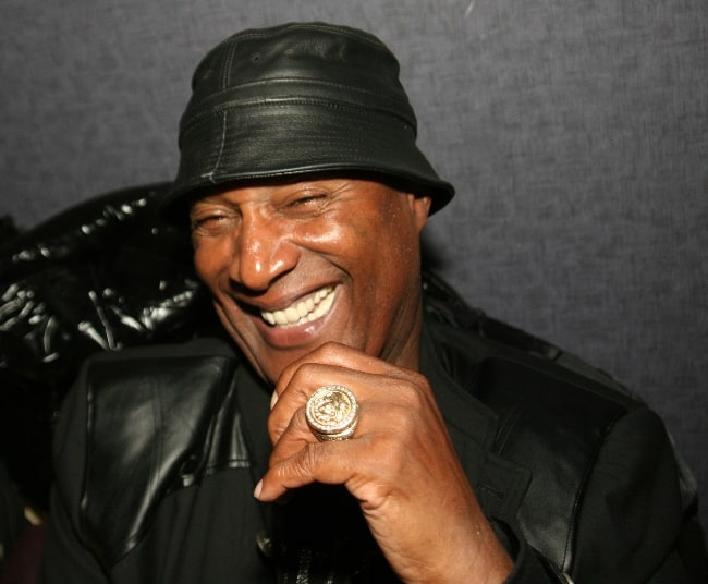 Paul Mooney pictured at a promotional event for Charlie Murphy to promote his book 'The Making of a Stand Up Guy' in December 2009