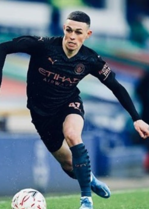 Phil Foden as seen in an Instagram Post in March 2021