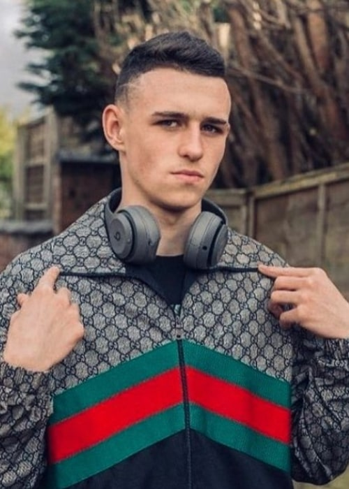 Phil Foden as seen in an Instagram Post in May 2020