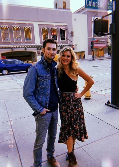Phillip Wampler as seen in a picture that was taken with his sister Carrie Wampler in Pasadena, California in October 2020
