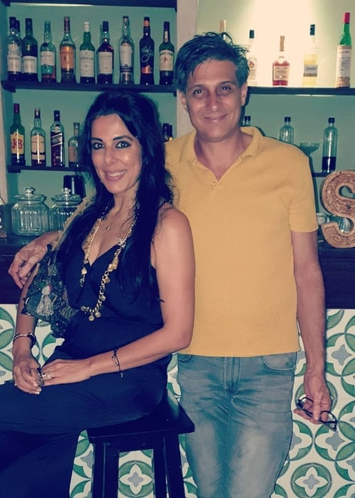 Pooja Bedi and Maneck Contractor, as seen in February 2021