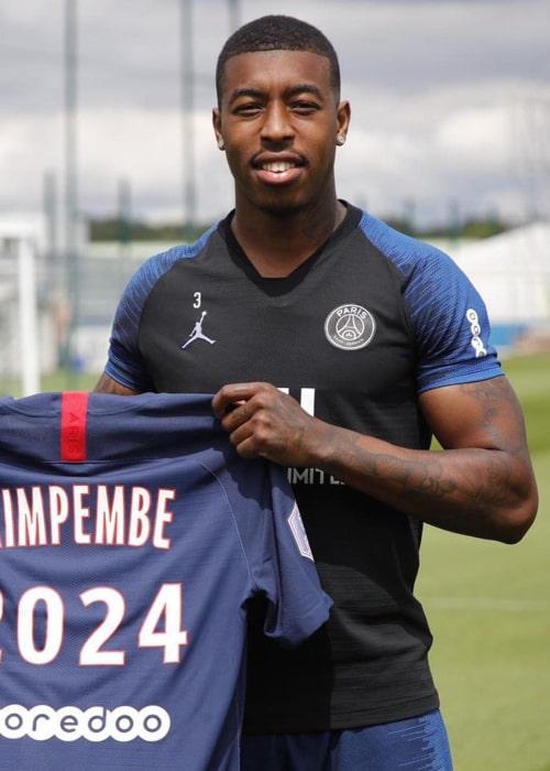 Presnel Kimpembe as seen in an Instagram Post in July 2020