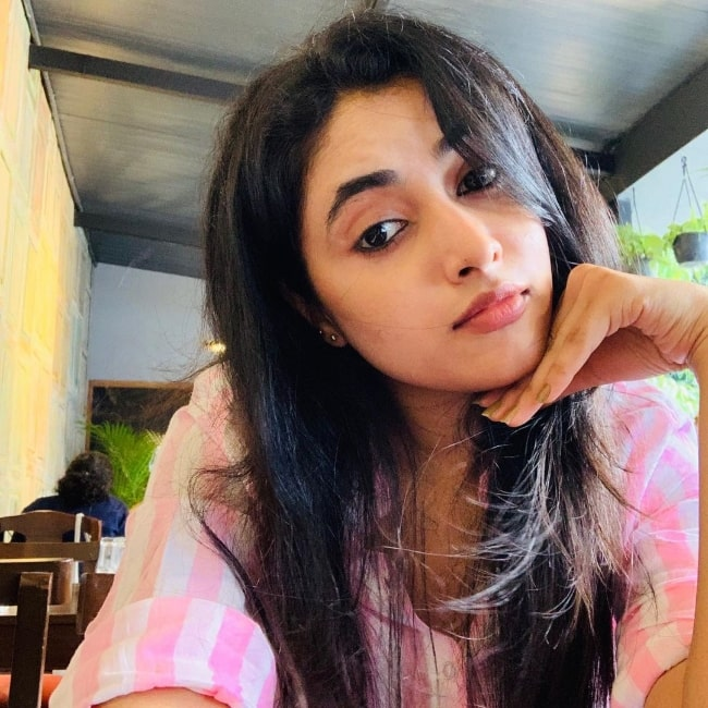 Priyanka Arul Mohan as seen while taking a selfie