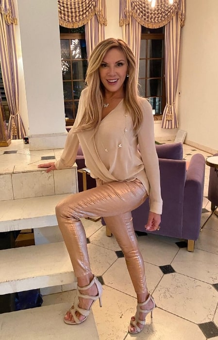 Ramona Singer as seen while posing for a picture in New York City, New York in April 2021