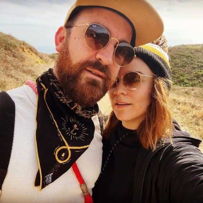 Renée Felice Smith and her husband Christopher Gabriel in a selfie that was taken in March 2021