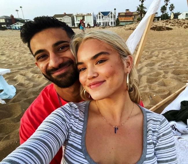 Rhys Athayde smiling in a selfie alongside Paris Berelc in Los Angeles, California