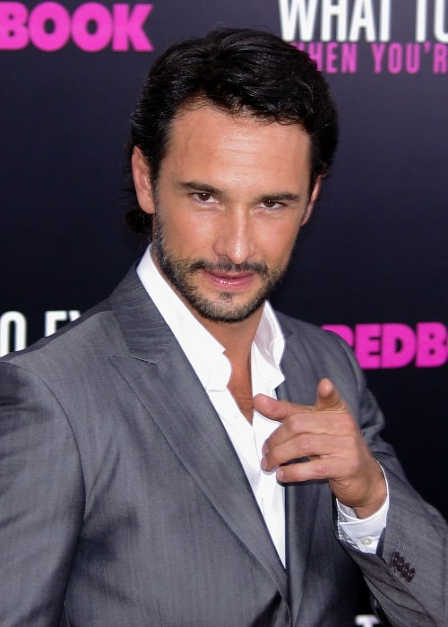 Rodrigo Santoro as seen while posing for the camera at the 2012 premiere of 'What to Expect When You're Expecting' in New York