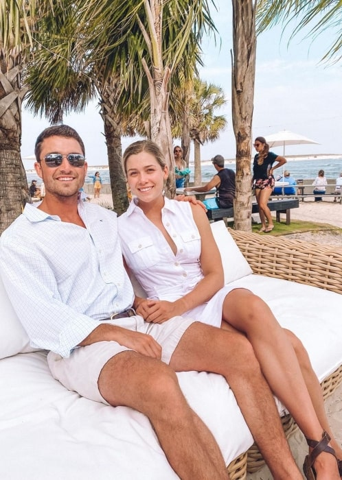 Rose Reid relaxing with her beau in June 2020