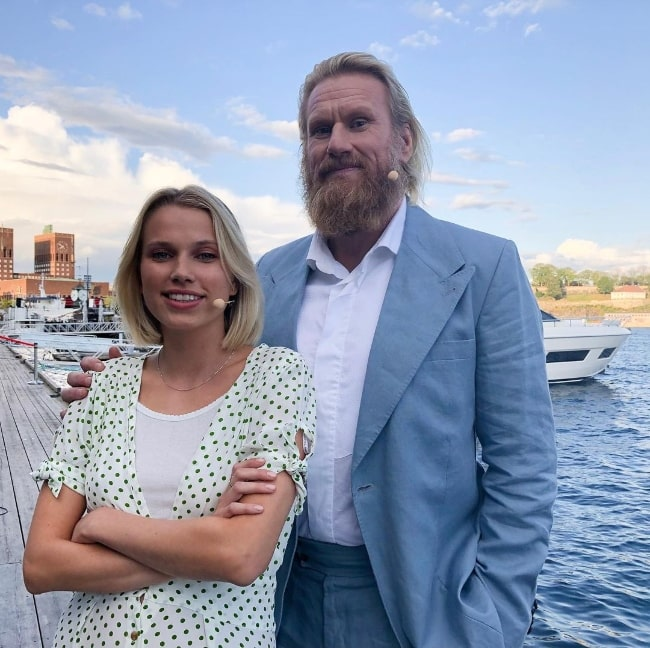 Rune Temte posing for a picture along with Thea Sofie Loch Næss