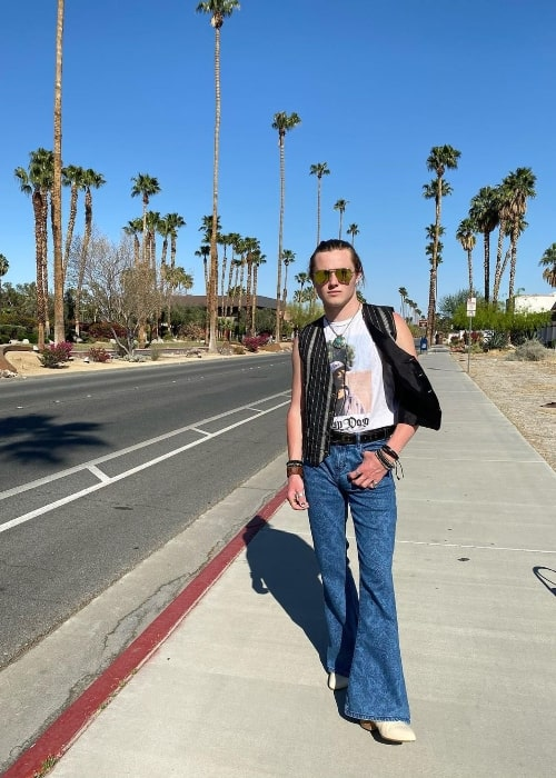 Sacha Carlson as seen while posing for the camera in Palm Springs, California in 2021