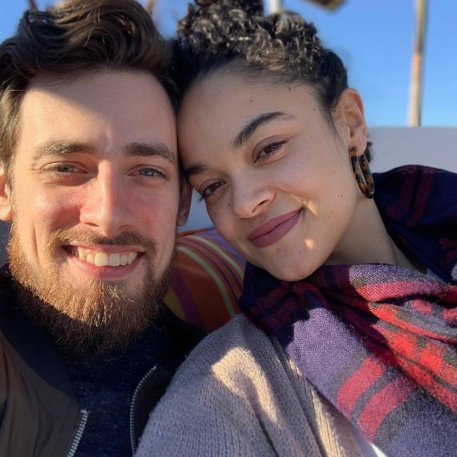 Sarah-Nicole Robles and Robbie Spagz in Hollywood in January 2019
