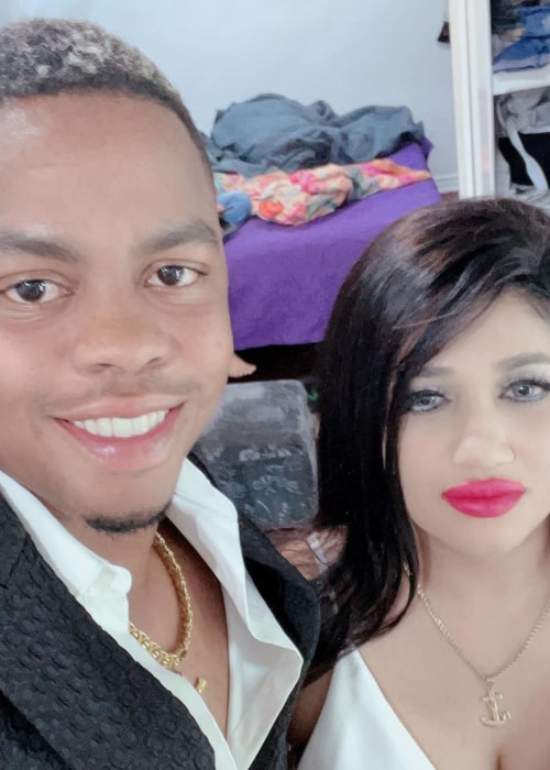 Shimron Hetmyer and Nirvani Umrao, as seen in March 2021