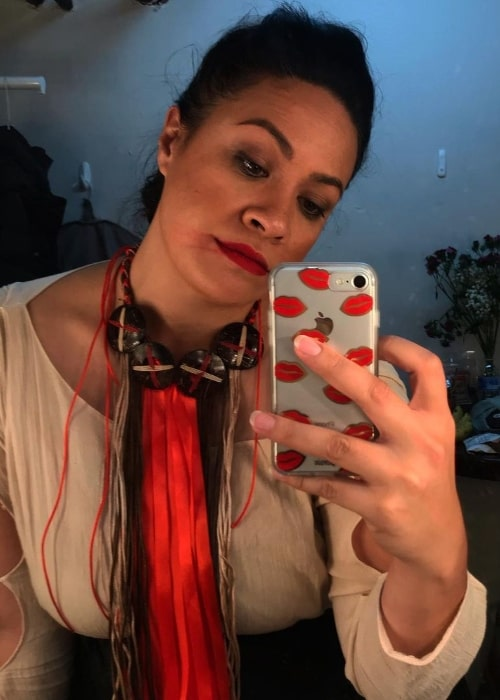 Stacey Leilua as seen while taking a mirror selfie in 2020