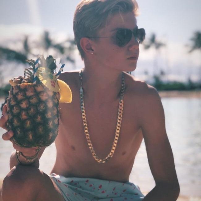 Stefan Benz enjoying summer in Honolulu in Hawaii in May 2021