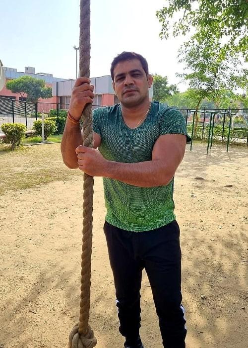 Sushil Kumar as seen in an Instagram post in April 2020