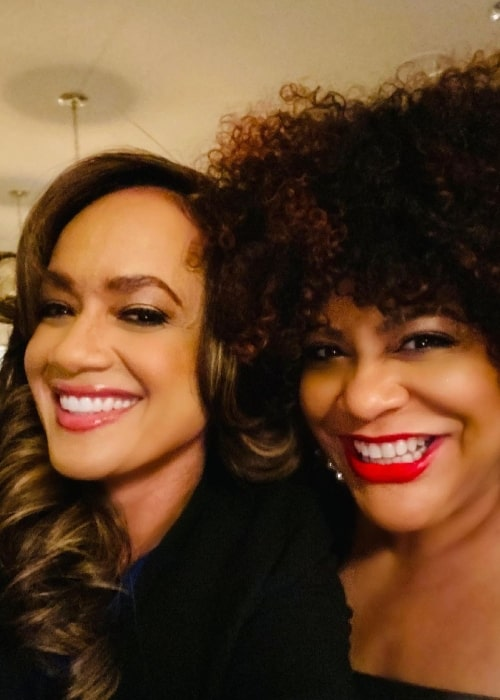 Tammy Townsend (Left) and Kim Coles as seen in an Instagram post in March 2021