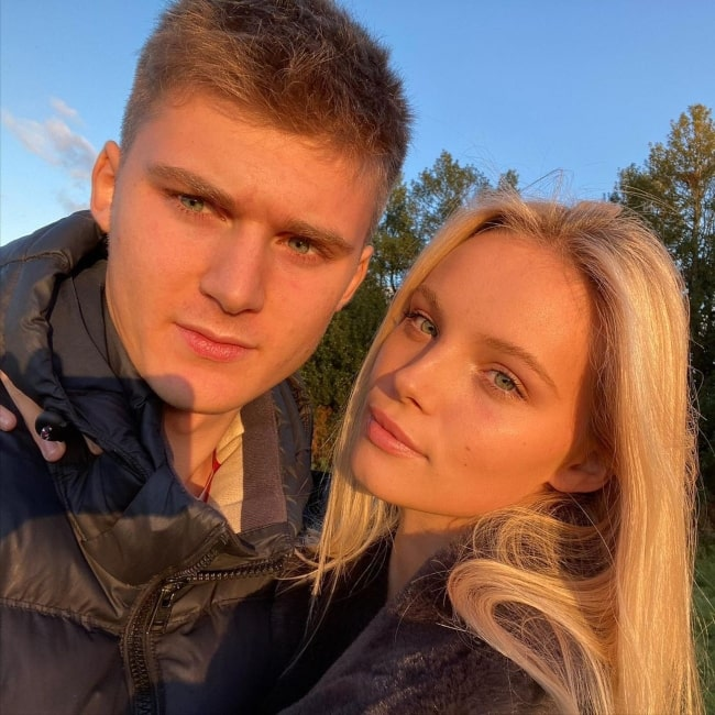 Tara Halliwell and her boyfriend Ollie Smith as seen in a selfie that was taken in Surrey in November 2020