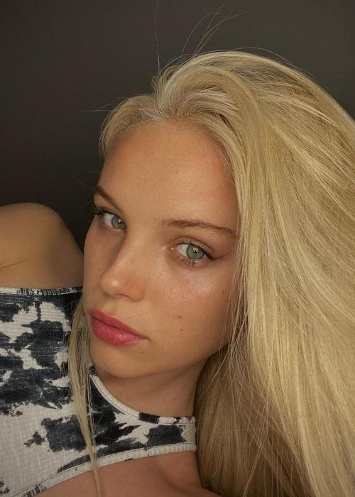 Tara Halliwell as seen in a selfie that was taken in May 2021
