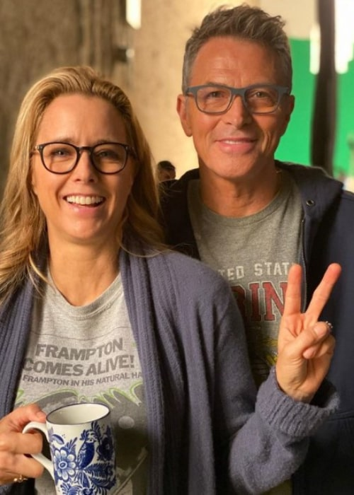 Tim Daly and Téa Leoni, as seen in November 2019