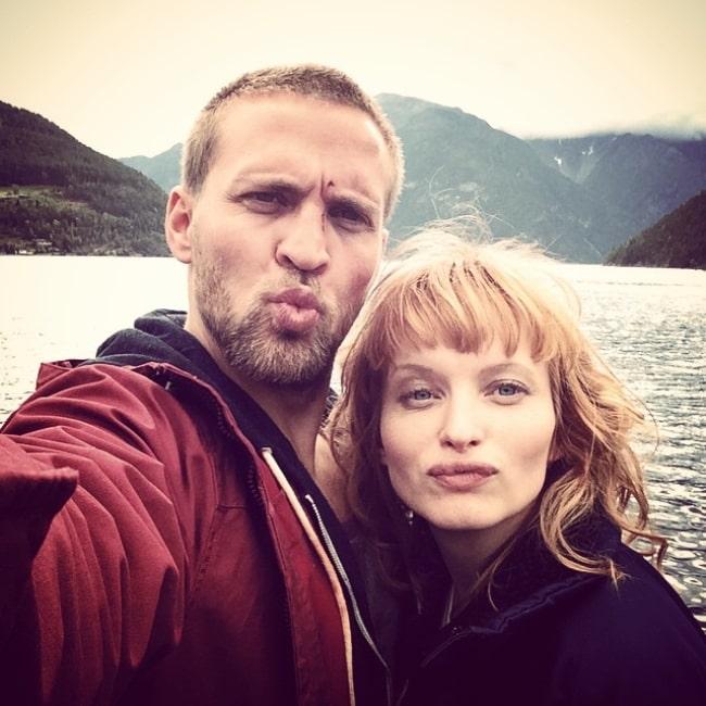 Tobias Santelmann as seen while pouting for a selfie alongside Julia Bache-Wiig in March 2015