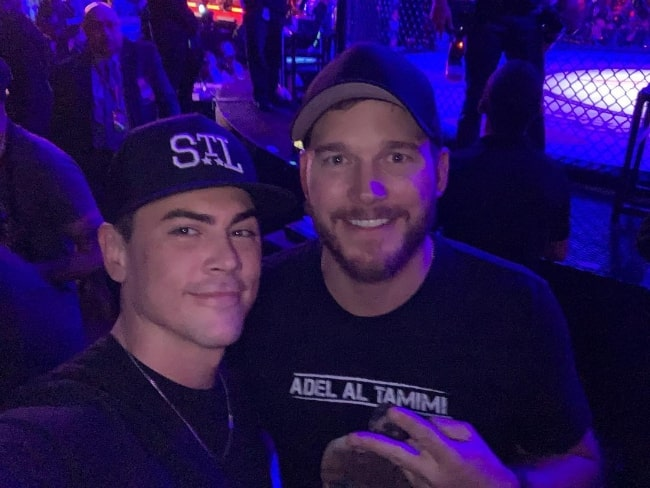 Tom Sandoval (Left) as seen while taking a selfie with Chris Pratt in January 2019