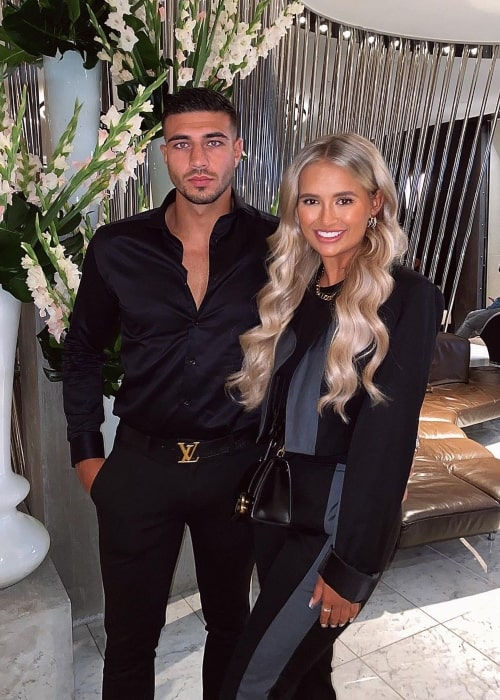 Tommy Fury with TV personality and girlfriend Molly-Mae Hague in August 2020