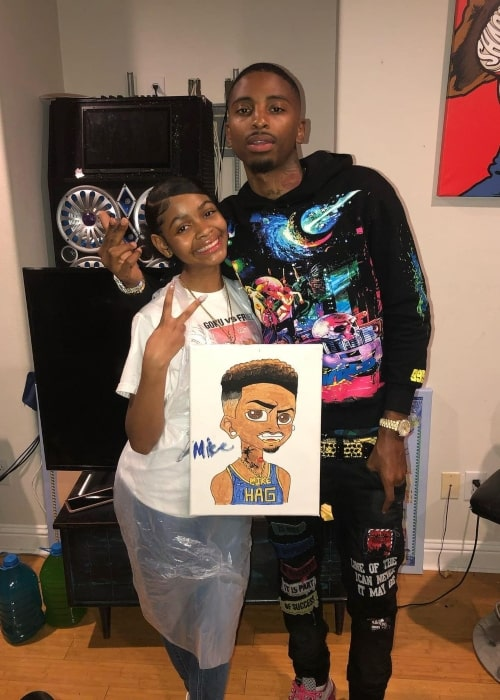 Toni Logan as seen in a picture with YouTube star FunnyMike in November 2020