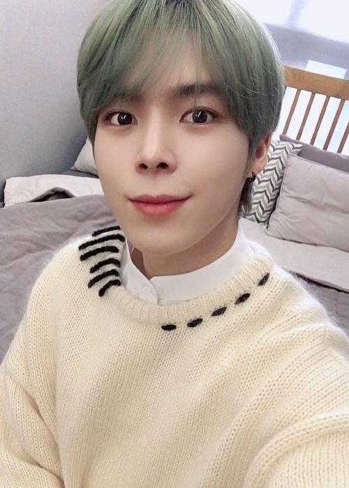 Yeonho as seen in a selfie that was taken in December 2020