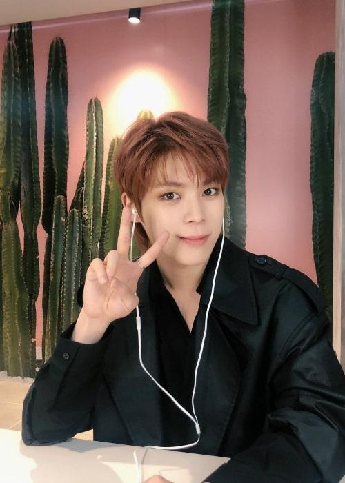 Yeonho as seen in a selfie that was taken in March 2021