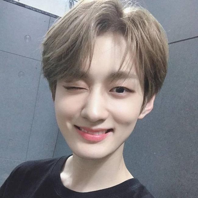 Yongseung as seen in a selfie that was taken in 2020