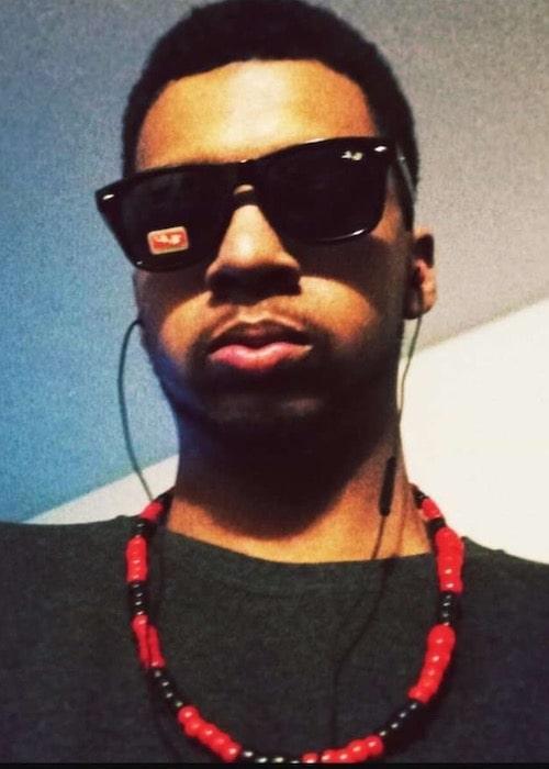 Yung Phonikz wearing sunglasses