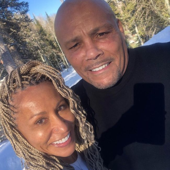 Adrienne Banfield-Norris and husband Rodney as seen during the Christmas holidays in 2020