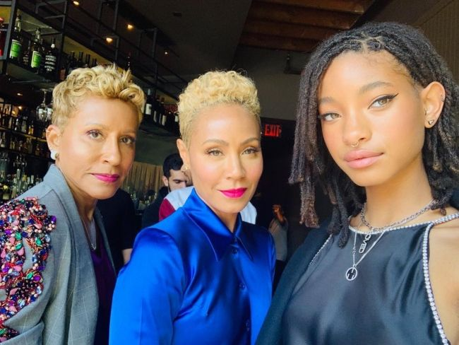 Adrienne Banfield-Norris as seen with her daughter Jada and granddaughter Willow