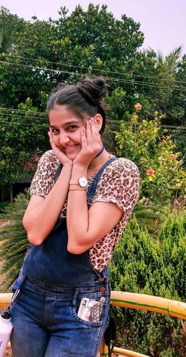 Anaswara Rajan as seen while posing for the camera in 2020