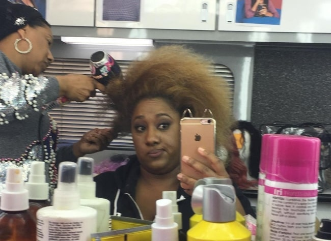 Ashley Nicole Black in August 2019 getting ready for her upcoming show