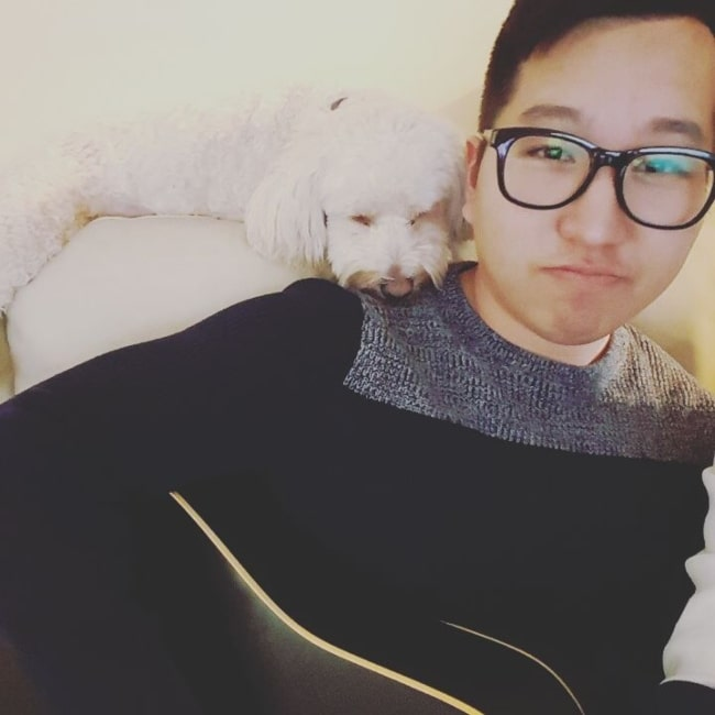 BaboAbe as seen ina selfie with his dog in March 2016